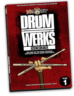 The all-acoustic drum samples that started it all, Drum Werks I.