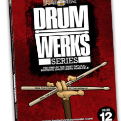 Drum Werks XII offers songwriters authentic 12/8 blues grooves, half-time shuffles, blues-rock shuffles.