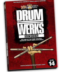 Drum Werks XIV: The Brazilian Kitchen offers a wide variety of Brazilian drum loops and styles in tempos 75-150 BPM