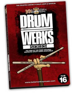 Drum Loops for Rock, Hard Rock, Alt Rock - Drum Werks XVI