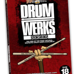 Drum Werks XVIII features Rock, Funk, Pop Grooves