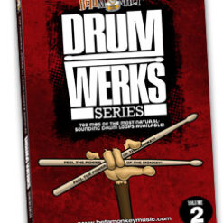 Drum Werks II Reloaded sample pack of Hard rock drum loops.