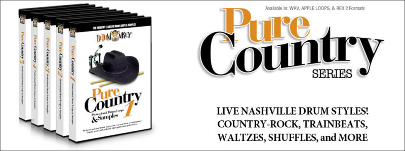 Country drum loops - The Pure Country Sample Series
