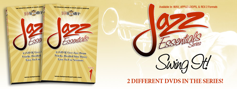Jazz Drum Loops, Jazz Drum Tracks - Jazz Essentials Sample Series