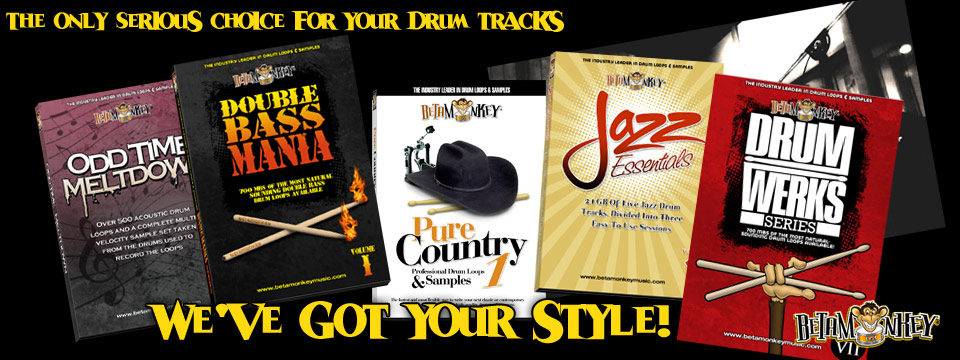 All Styles of Drum Loops from Beta Monkey
