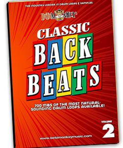 Acoustic drum loops - Pure and Natural in the Classic Backbeats Series