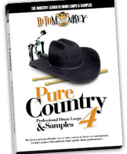 3/4, 6/8 drum loops with brushes - Pure Country IV