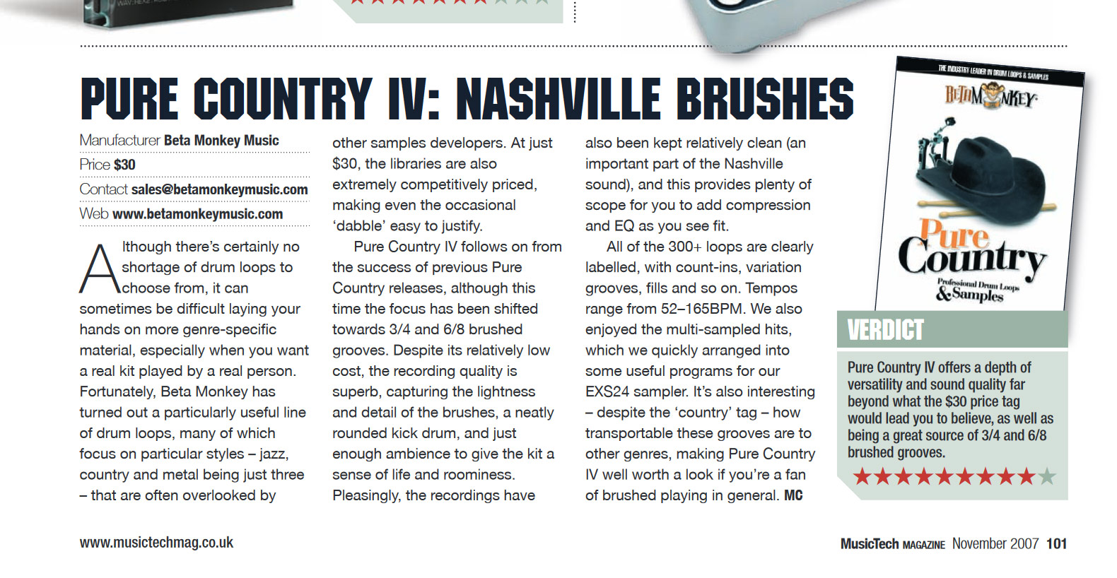 Brush Drum Loops - PURE COUNTRY IV: NASHVILLE BRUSHES™