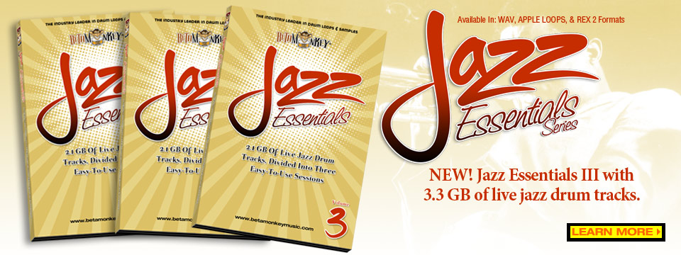 Multi-track jazz drums - Jazz Essentials III