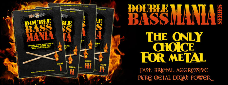 Double Bass Mania Metal Drum Loops and Samples Series