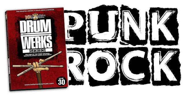 Punk Drum Loops from Beta Monkey