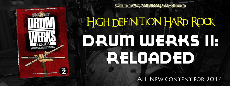 Hard Rock Drum Loops and Samples - Drum Werks II Reloaded