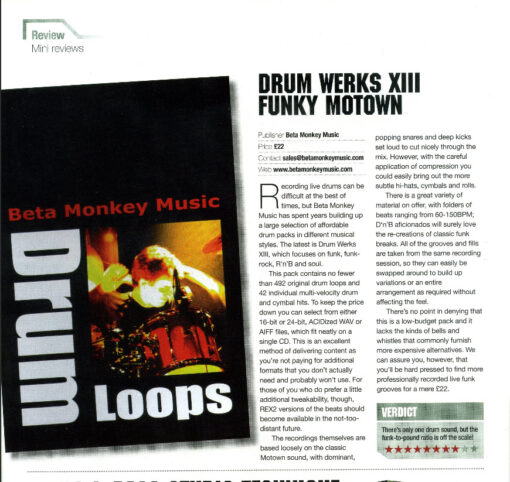 Drum Werks XIII Review