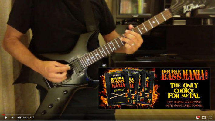 YouTube Screenshot of customer using Double Bass Mania drum loops and drum samples