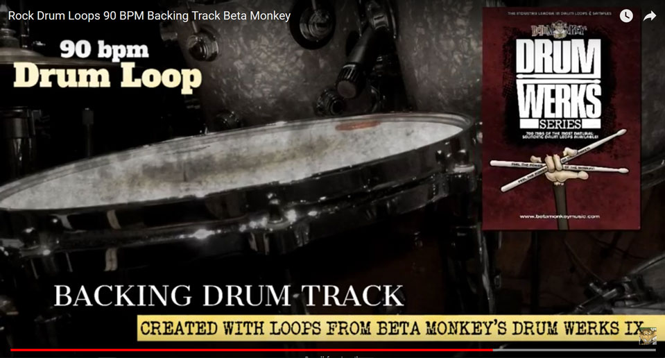 Backing Drum Track @ 90 bpm for rock