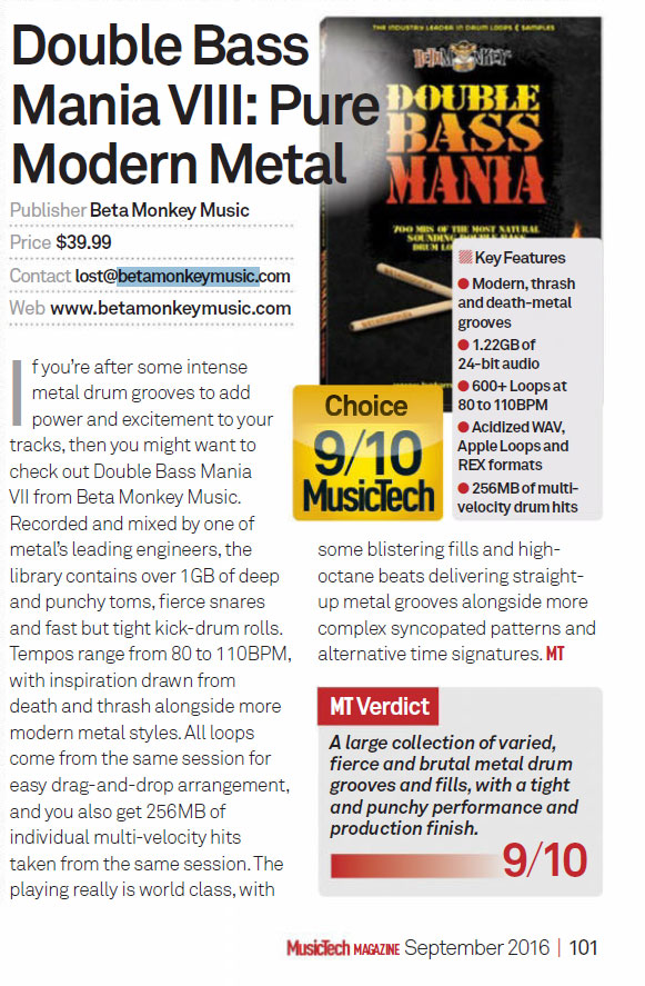 Double Bass Mania VIII; Pure Modern Metal Review
